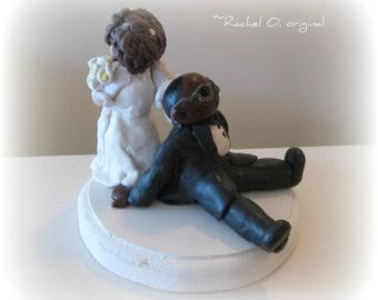 Custom Wedding Cake Topper made to look like people