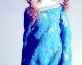 Blue Lace long sleeve MSD shirt
