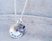 tiny personalized mothers necklace.. personalized jewelry.. dainty disc necklace.. hand stamped jewelry