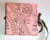 Pink and Brown Fancy Flowered Mini Album