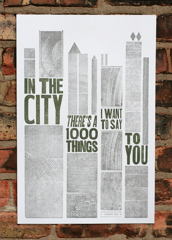 In The City letterpress poster