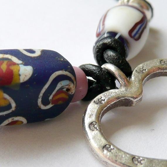 Tribal Heart A Vintage Venetian Trade Bead Necklace
