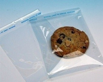 200pk 4.5 x 5.5 cookie cellophane bags Resealable BAGS