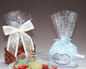 Clear Medium snack cellophane bags-C22-1.2 mil-set of 200 - Corsage bags