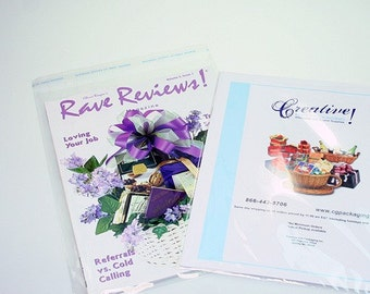9 x 12 Resealable cellophane bags - 100 clear catalog bags
