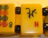 Vintage Rare Bakelite Split Pea Mahjong Bracelet by Jan Carlin