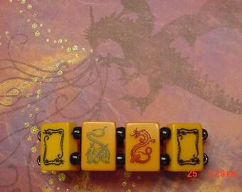 Seven Dragon Antique Mah Jongg Bracelet Jan Carlin Original Design