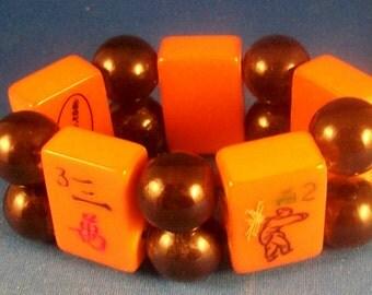 1930 All Bakelite Mahjong Bracelet by Jan Carlin