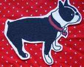 boston terrier side view patch