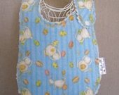 bunnies and glitter eggs -- boutique couture bib by lillybelle designs