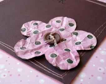 Handmade card and envelope  Flower Laughter