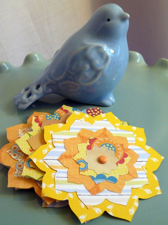 Handmade Paper Flowers----Sunshine