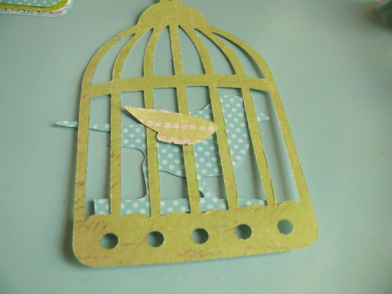 Die Cut Birdcage and Bird for Scrapbooks Card Making Paper Goods