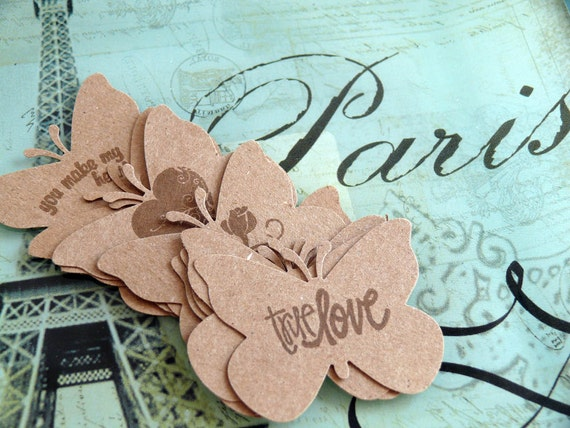 Butterfly Die Cuts  Amour