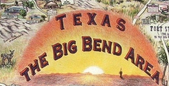 Texas Big Bend Area Poster