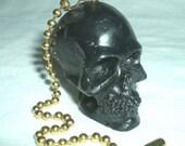 FAN PULL SKULL SHAPED Ceiling Fan Pull Chain Miniature Size Head
