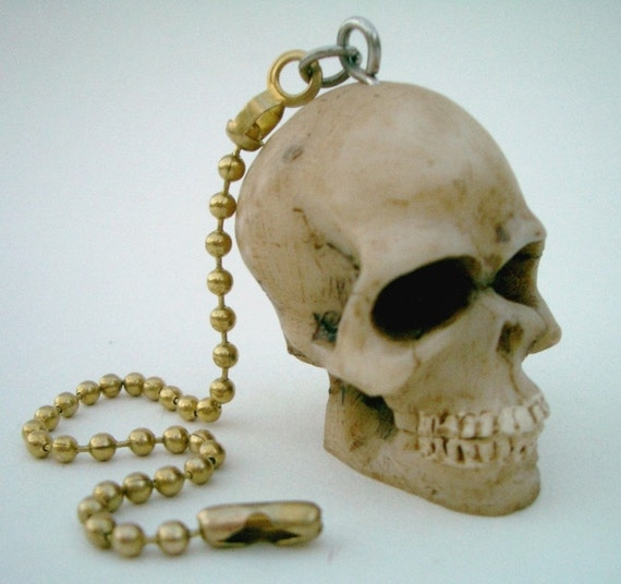 Miniature Human Skull Ceiling Fan Pull Chain Retro Punk Rock