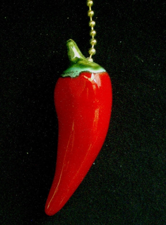 Red Hot Chili Pepper Decorative Ceiling Fan Pull Chain Spicy