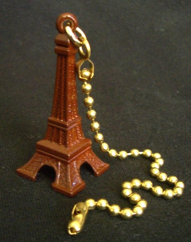 Fan Pull Eiffel Tower Ceiling Fan Pull Chain Detailed Metal