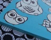 Owl Groupies Original Hand Painting
