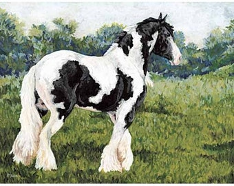 Gypsy Horse Print, Horse Art, Horse Painting, Horse Gifts, Gypsy Cob, Equine Art, horse decor, western decor, western art, spotted horse