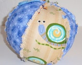 Silly Snails Large Cloth Rattle Ball