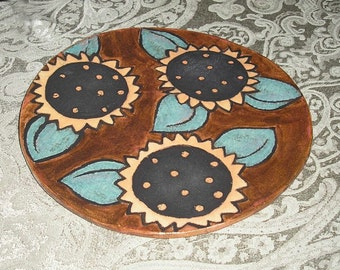 Sunflower Plate\/Wall Hanging