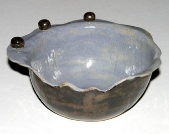 Whimsical Bowl With Three Beads