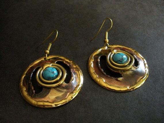 Laila African Brass Earrings