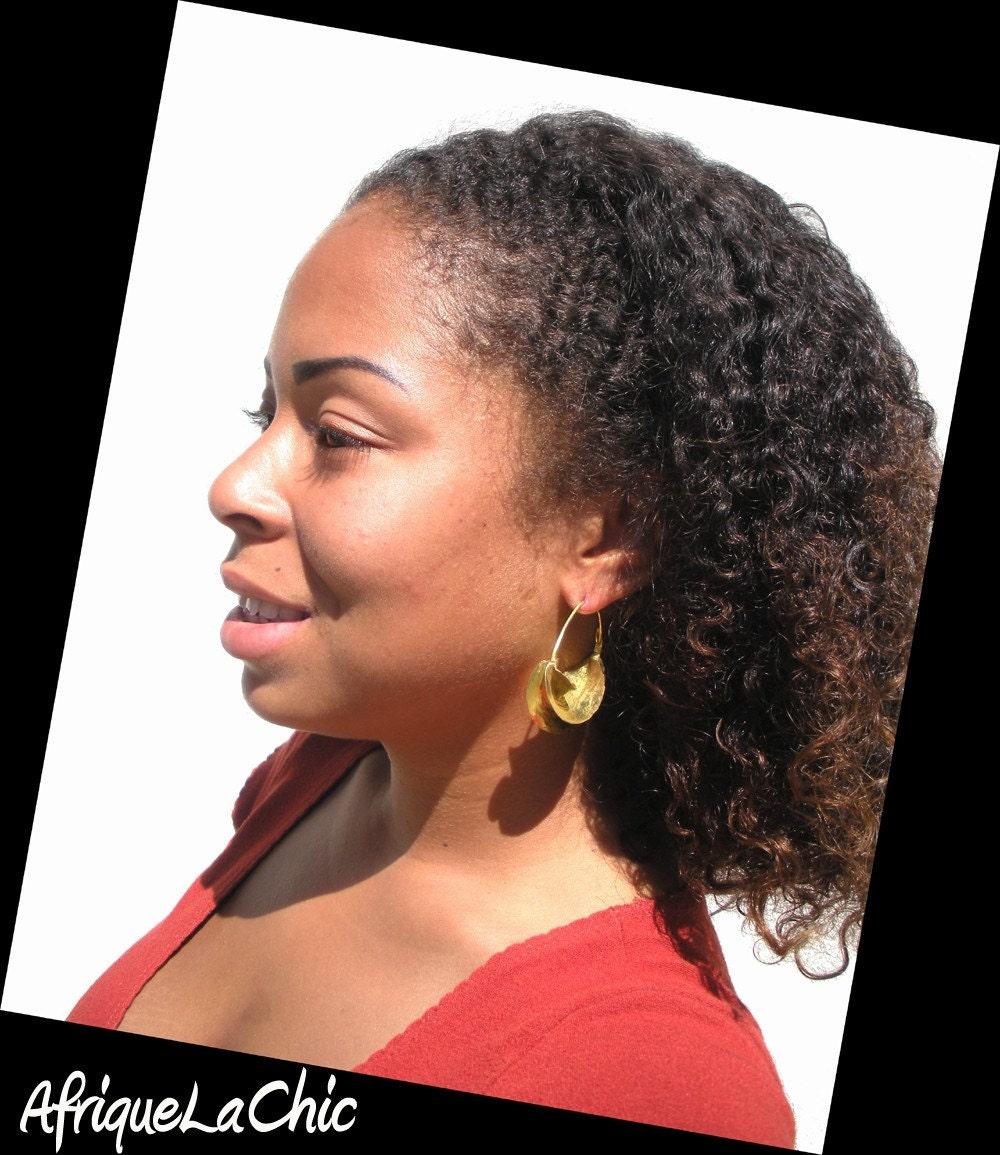 Fulani Earrings: Vintage Fulani Kwottenai Kanye Hoop Earrings