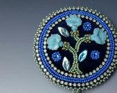 Sarah's  Sapphire Blue Opal Brooch for Catching Butterflies