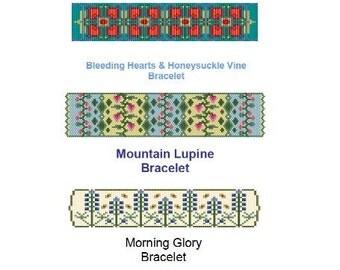 Art Nouveau Spring Floral Flower Bracelet Package of PDF Patterns