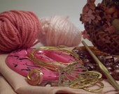 SALE - pink and gold crafting assortment.