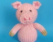 Pig Toy Knitting Pattern (PDF)  Legs, Egg Cozy & Finger Puppet instructions included