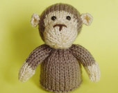 Monkey Toy Knitting Pattern (PDF)