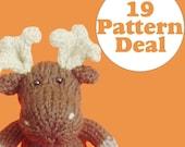 KNITTING PATTERN DEAL - 19 Animal Toy Patterns - you choose (pdf)