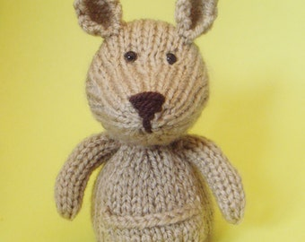 Kangaroo Toy Knitting Pattern (PDF)