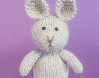 Knitting Patterns For Toy Rabbits : Rabbit Toy Knitting Pattern (PDF)