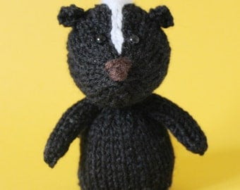 Skunk Toy Knitting Pattern (PDF)