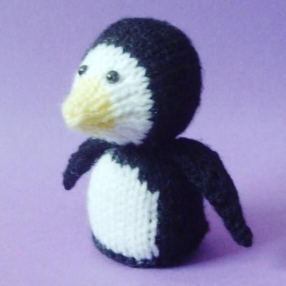 Penguin Toy Knitting Pattern (PDF) from Jellybum on Etsy Studio
