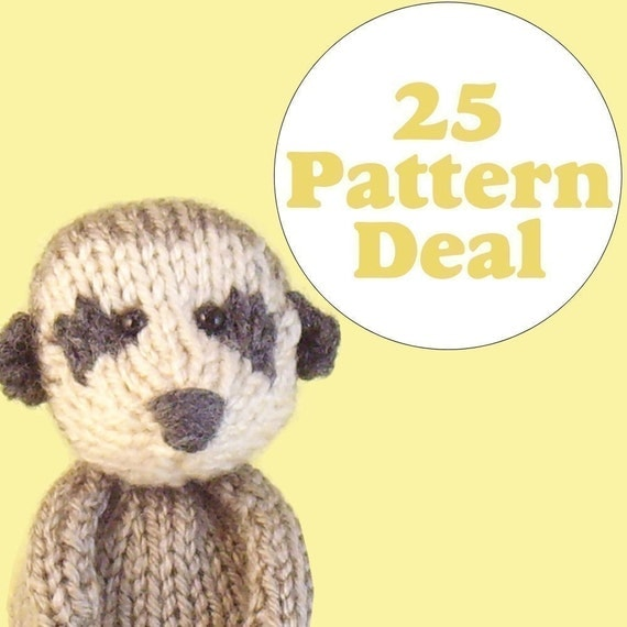 Knitting Pattern Small Animals : KNITTING PATTERN DEAL 25 Animal Toy Patterns you choose