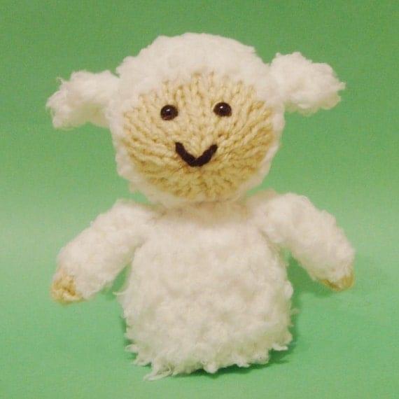 Sheep Toy Knitting Pattern PDF