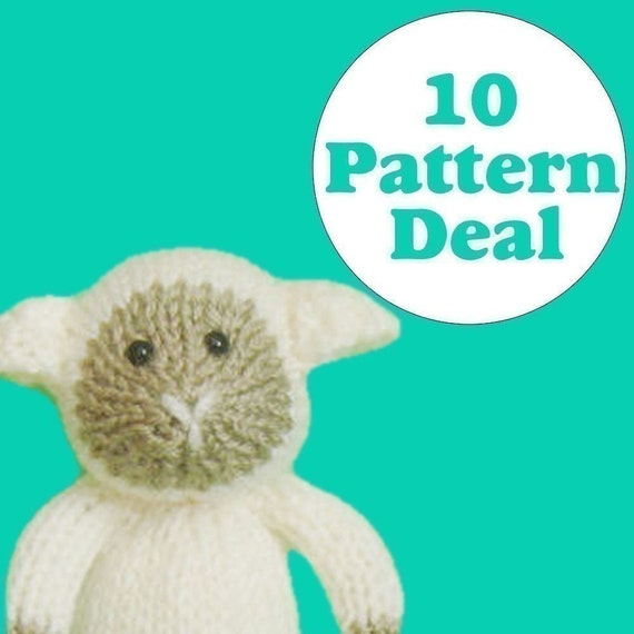 KNITTING PATTERN DEAL - 10 Animal Toy Patterns - you choose (pdf)