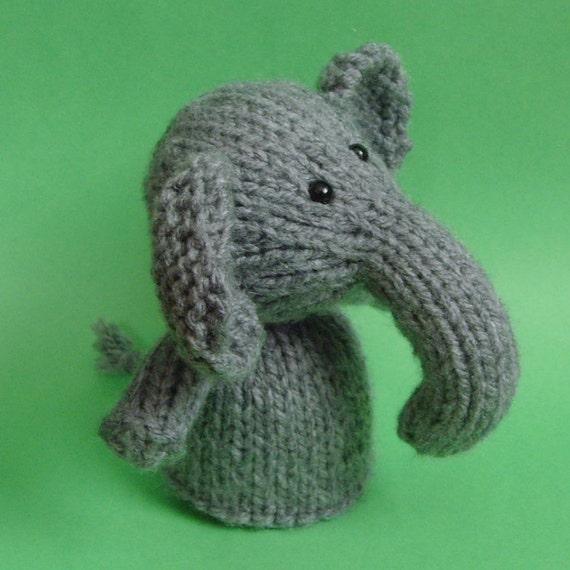 Large Elephant Knitting Pattern : Elephant Toy Knitting Pattern PDF Legs Egg Cozy & Finger