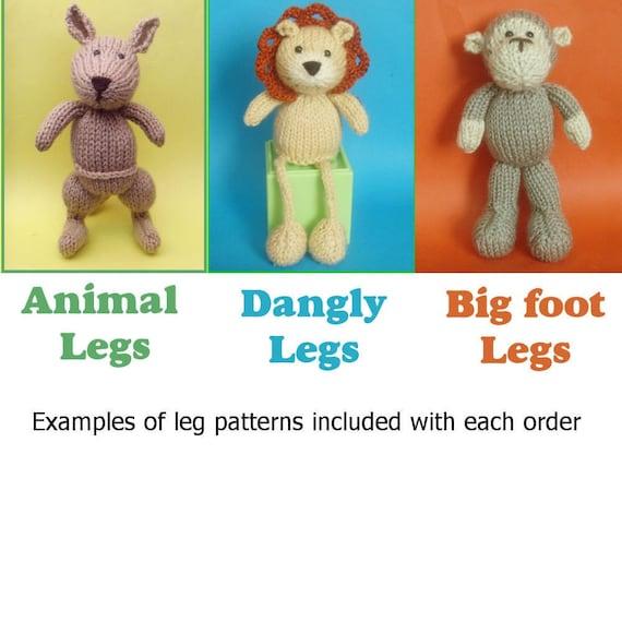 Toy Kangaroo Knitting Pattern : Kangaroo Toy Knitting Pattern (PDF) from Jellybum on Etsy Studio