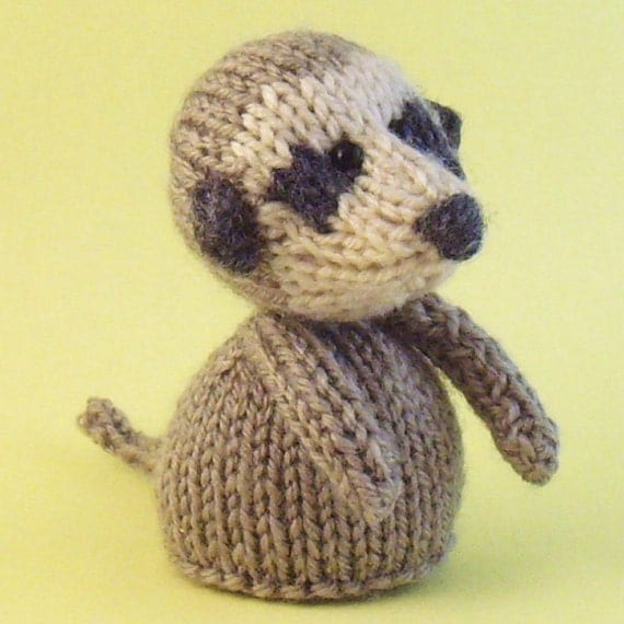 Meerkat Toy Knitting Pattern (PDF) from Jellybum on Etsy Studio