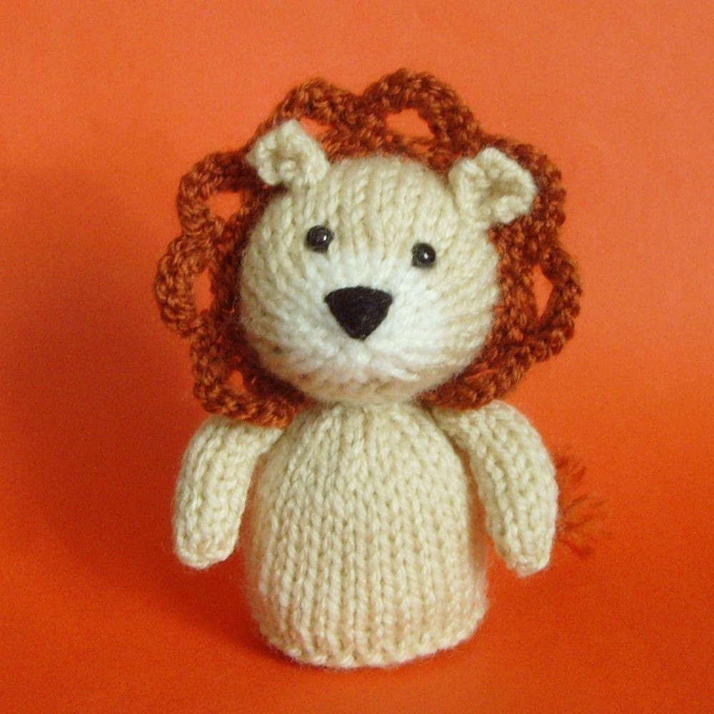 Lion Toy Knitting Pattern PDF by Jellybum on Etsy