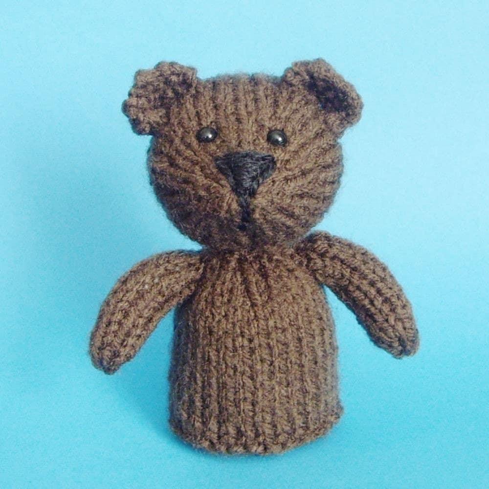 Bear Toy Knitting Pattern PDF