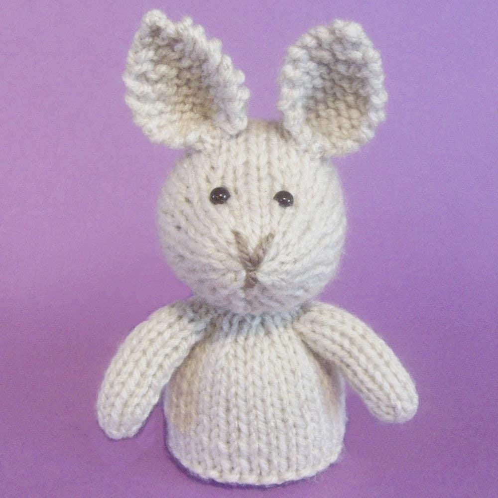 Easy Finger Puppet Knitting Pattern : Rabbit toy knitting pattern pdf