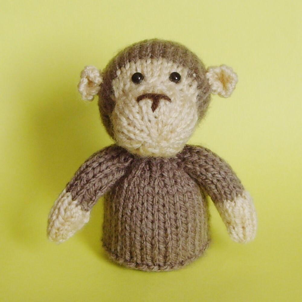 Monkey Toy Knitting Pattern PDF
